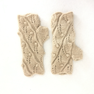 IMfield Natural Series, Hand Made Knitted Fingerless Gloves Wrist Guard