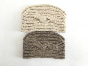Cashmere Women Crochet Knitted Ski Headband