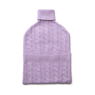 Cashmere Knitted Hot Water Bottle Cover