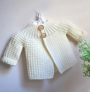 Cashmere Little One Knit Texture Cardigan Sweater