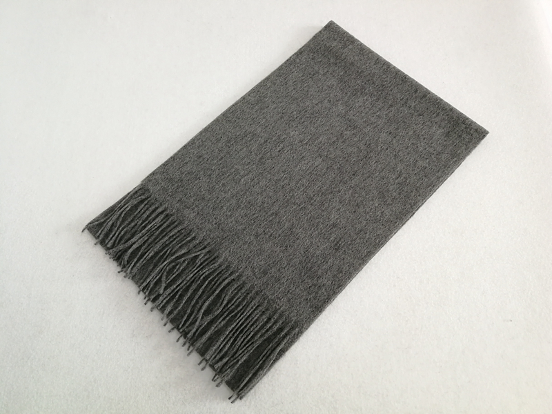 Plain Wool Scarf Steel