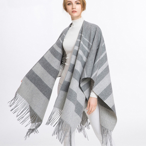 Checked Plaid Tartan Cashmere Cape