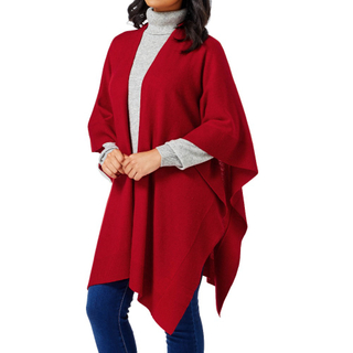 Solid Color Cashmere Cape