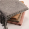 Twin Size Solid Color Cashmere Blanket