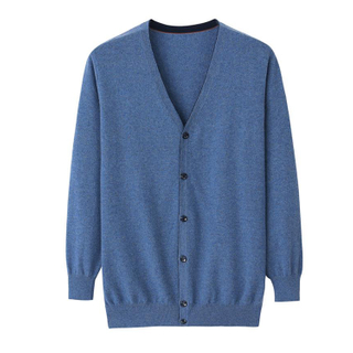 Men Cashmere Cardigan Sweater