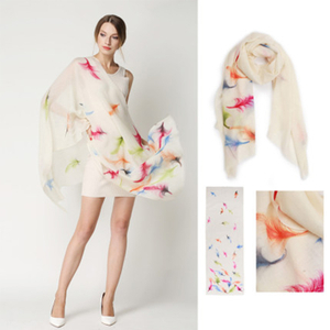 Cashmere Hand-Painted Scarf