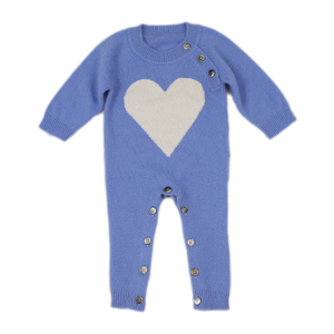Baby Plain Knit Cashmere Rompers