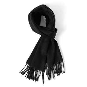 Solid Black Color Cashmere Scarf