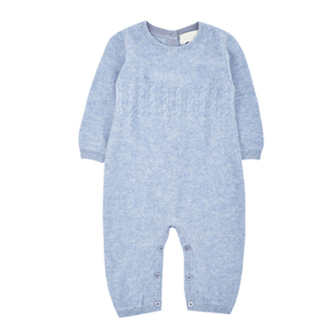 Baby Cable Knitted Cashmere Rompers