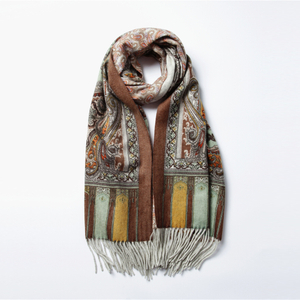 Double Side Print Cashmere Scarf