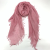 Cashmere Tassels Plain Muffler Shawl, Honey Sucke