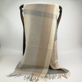 Cashmere Plaid Shawls, Grey