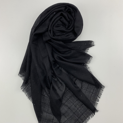 Cashmere Ultra Thin Shawls, Black