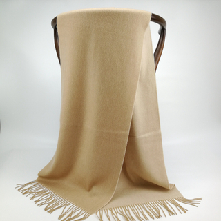 Cashmere Small Double Side Shawls, Camel&Natural